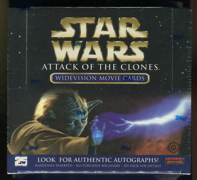2002 Topps Star Wars Attack of the Clones Widevision Factory Sealed Hobby Box (A