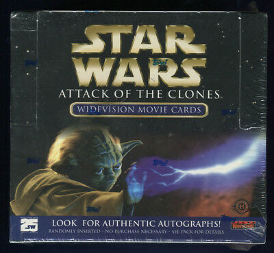 2002 Topps Star Wars Attack of the Clones Widevision Factory Sealed Hobby Box (B