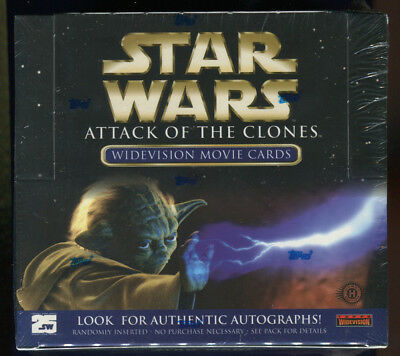 2002 Topps Star Wars Attack of the Clones Widevision Factory Sealed Hobby Box (C