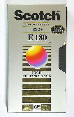 Used Scotch Extra Grade Plus E180 Vhs Tape Cassette Remembrance Day 2004