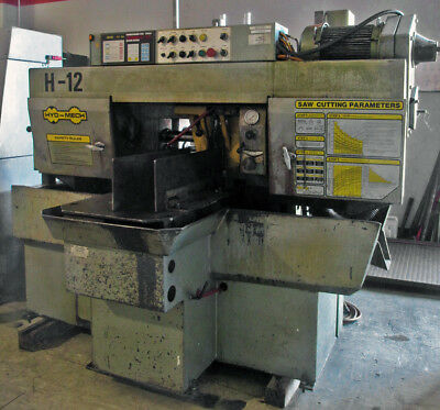 "HYD-MECH H-12 12""x12"" Horizontal METAL CUTTING AUTOMATIC CUT-OFF SAW"