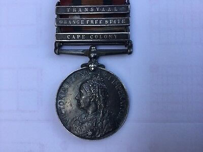 Suffolk Regiment 3 Bar Queen's South Africa Medal