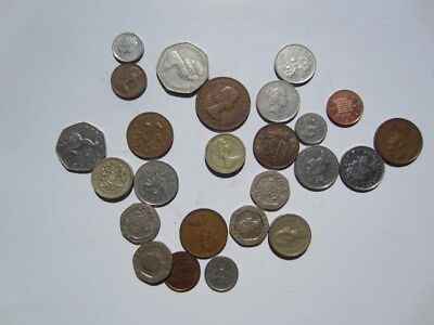 Lot of 25 UK Great Britain coins world coins # 1