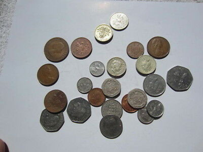 Lot of 25 UK Great Britain coins world coins # 2