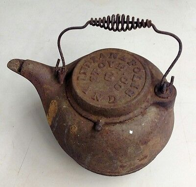 Antique Indianapolis Stove Company#8 Cast Iron Campfire Kettle