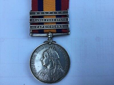 Boer War Queen's South Africa Medal 3 Bars to Coldstream Guards
