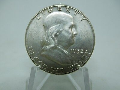 1952 US Silver Franklin Half Dollar Uncirculated