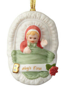 Enesco Growing Up Girls Blonde Baby's First Ornament 4058388 New Christmas 2018