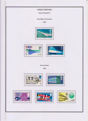 GB Used Stamp Collection 1969 Complete QEII Commemorative Year Set See All Scans