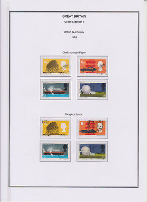 GB Used Stamp Collection 1966 Complete QEII Commemorative Year Set See Scans