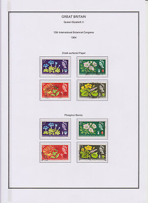GB Used Stamp Collection 1964 Complete QEII Commemorative Year Set See Scans