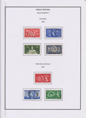 GB Used Stamp Collection 1953-1958 Complete QEII Year Sets See scans