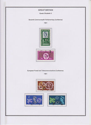 GB Used Stamp Collection 1961 Complete QEII Year Set See both scans
