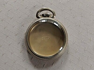 Vtg Star Pocket Watch Case Only For 16 Size Railroad Watch Excellent Condition