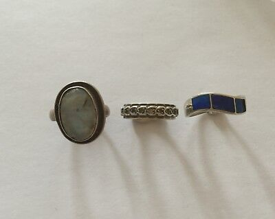 Detecting Finds - 1 x 9ct & 925 Eternity Ring + 2 x Silver Rings - For Repair