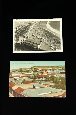 Lot of 2 - Historical Postcards of Chile Real Photo Souvenir Black White 1910s