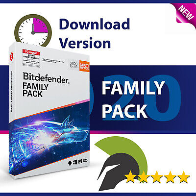 Bitdefender Family Pack 2019 - Alle Geräte (Windows, Mac, Android, iOS) - 1 Jahr