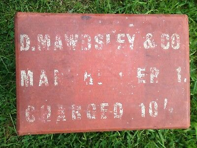 Vintage Medical Pharmaceutical Medical Box D Mawdseley & Co Manchester 1950s