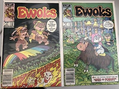 The Ewoks #1 And 2. New stands Editions (May 1985, Marvel)