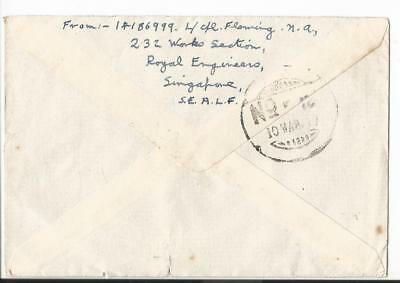 1947 Singapore South East Asia Land Force To  Uk  F.p.o.18 (62)