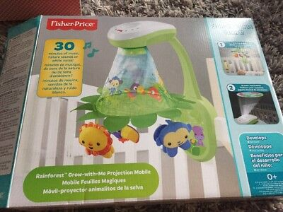 Fisher price Rainforest Grow With Me Projection Mobile. With Remote Musical