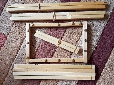 Bundle Of Wooden Bar Frames By Siesta For Cross Stitch - 7 Pairs Of Mixed Sizes