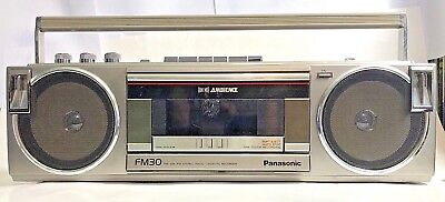 "Vintage Panasonic FM30 FM AM ""AMBIENCE"" Radio Stereo Cassette Recorder BoomBox"