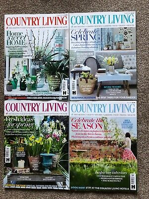 Country Living magazine bundle, 4 issues, February to May 2018