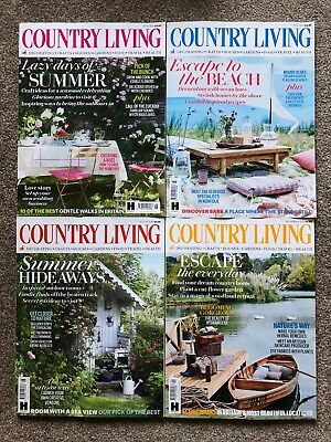 Country Living magazine bundle, 4 issues, June to September 2018