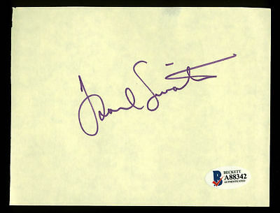 Frank Sinatra Authentic Signed 4.25x5.5 Yellow Album Page BAS #A88342