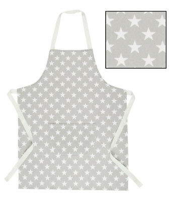 Childrens Apron Nordic White Stars Grey Baking Painting Role Play Kids Boys Girl