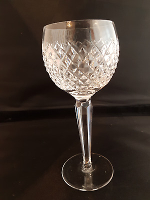 """WATERFORD Crystal - ALANA Cut - Hock/white Wine Glass (7 3/8"""" TALL) 7 AVAILABLE"""