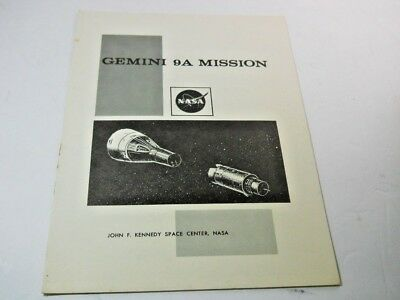 Vintage NASA Gemini 9A Mission Profile John F Kennedy Space Center