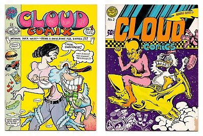 Cloud Comix #1 and #2 - Full Run / 1971-72 Underground Comix / FN- 5.5 to FN 6.0