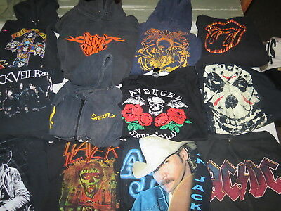 Lot Of 17 Concert & Band Hoodies & Sweatshirts Rock Pop Country Metal Adult