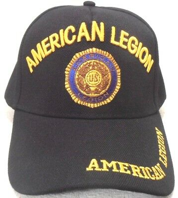 US MILITARY EMBROIDERED Ball Cap Hat American Legion Army National ... e4b19c64658