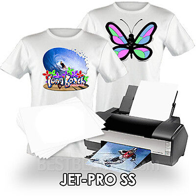 "NEENAH TRANSFER PAPER JET PRO SS LIGHT FABRICS 10 SHEETS of  8.5"" x 11"""