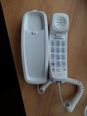 Slimline Conairphone wall or desk top Telephone color white, large numbers