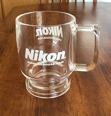 Nikon Clear Solid Thick Acrylic Mug With Coaster Cover(7 Available)