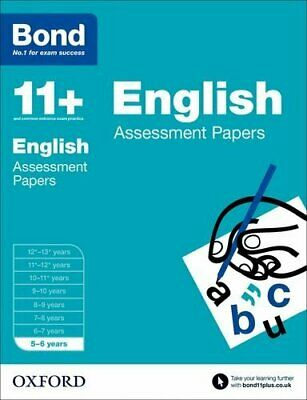 Bond 11+: English Assessment Papers: 5-6 years by Bond 11+ Book The Cheap Fast