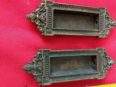 2 Brass Letter mail slot name plates Salvage Hardware