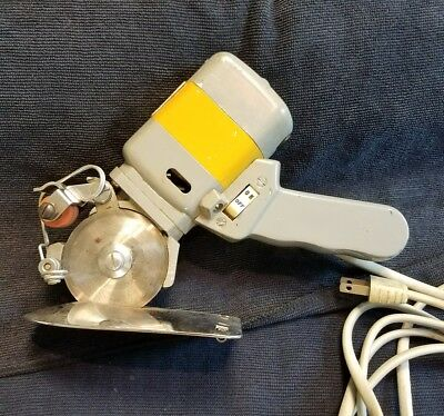 Vtg Consew 505 Rotary Round Knife Cloth Fabric Cutter Cutting Machine 110V