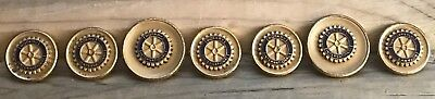 Vintage ROTARY INTERNATIONAL Set of 7 Buttons RARE