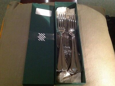John Lewis Sheffield Polished Stainless Steel Cutlery Grecian 20 X Fish Forks