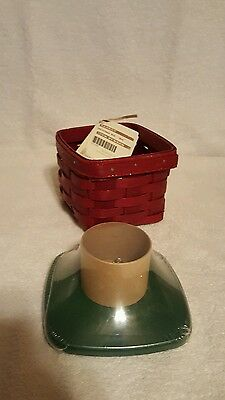 Longaberger 2011 Christmas Box Red With Lid New