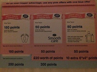 Boots Advantage Cards Extra Points **
