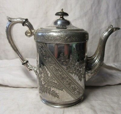 Ornate Victorian TEAPOT Stunning Silver Plate Design - VG Condition 2 Pint