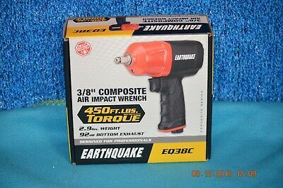 "Earthquake Eq38C 3/8"" Composite Series Air Impact Wrench Factory Sealed"