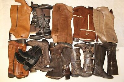 Lot Wholesale Used Womens Boots Rehab Resale Durango Paul Green Steve Madden aPn