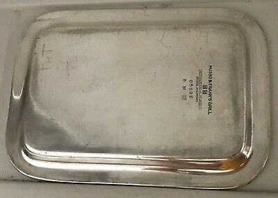 """Musso and Frank Hollywood Grill 1920's Waiters Tip Tray Signed """"Pat"""" RARE"""
